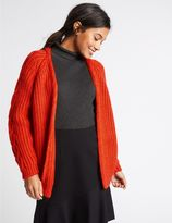 Marks and Spencer Ribbed Cable Knit Cardigan