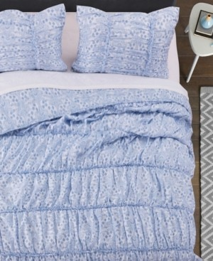 Greenland Home Fashions Helena Ruffle Quilt Set, 3-Piece Full/Queen