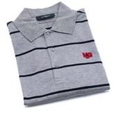 Givenchy Men's Gray 100% Cotton Striped Polo Shirt.
