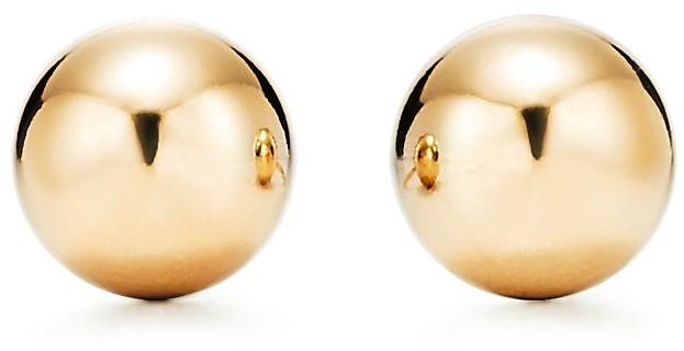 Tiffany & Co. City HardWear Ball Earrings in Yellow Gold, 8 mm