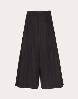 Valentino Micro-faille Culottes Women Black Polyester 46% 38
