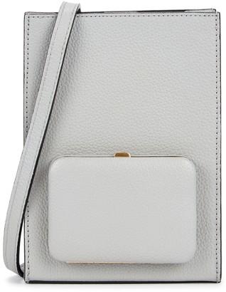 Parker Lutz Morris Book grey grained leather cross-body bag