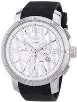 Esprit Ourea Men's Quartz Watch with Silver Dial Chronograph Display and Black PU Strap EL101921F01