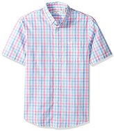 Dockers Short-Sleeve Multi Gingham Button-Front Shirt with Pocket