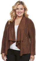 Dana Buchman Plus Size Faux-Suede Jacket
