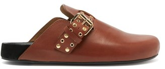 Isabel Marant Mirvin Studded Backless Leather Clogs - Womens - Tan