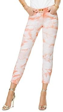 Ramy Brook Katie Cropped Jeans in Pink Tie Dye