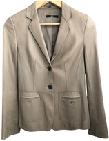 BOSS Beige Leather Jacket for Women