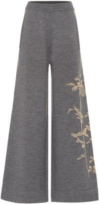 Dries Van Noten Merino wool-blend wide-leg pants