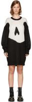 McQ Black Giant Swallow Sweater Dress