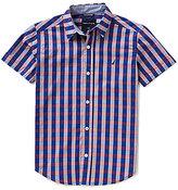 Nautica Big Boys 8-20 Checked Short-Sleeve Woven Shirt