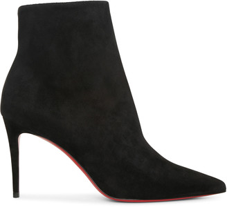 Christian Louboutin So Kate 85 black suede ankle boots