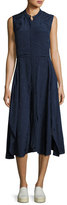 Public School Casside Sleeveless Jacquard Midi Dress, Blue