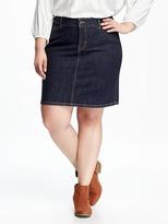 Old Navy Smooth & Slim Plus-Size Denim Pencil Skirt