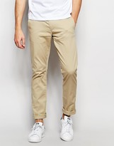 Selected Slim Fit Chinos with Italian Leather Belt