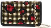 Les Petits Joueurs studded leopard patch clutch