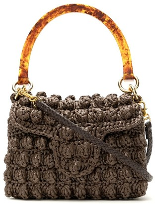 Serpui Marie Crochet Straw Bag