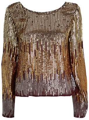 Rixo Bettina Sequin Top