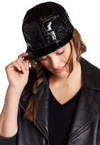 Steve Madden Metallic Faux Leather Snapback Hat