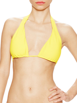 Shoshanna Lemon Drop Texture Halter String Top