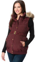 A Pea in the Pod Faux Fur Trim Maternity Vest