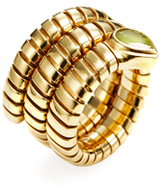 Bulgari Vintage 18K Yellow Gold & Peridot Serpenti Ring