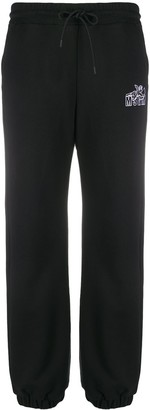 MSGM Logo-Print Track Pants
