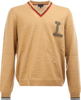 Lanvin chest-logo knitted sweater - men - Wool - S