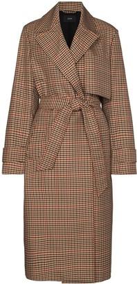 Joseph Chasa check-pattern trench coat
