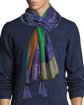 Etro Sciarpa Tasseled Silk-Blend Scarf