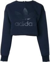 adidas cropped Trefoil sweatshirt