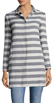 LK Bennett Arca Cotton Striped Coat
