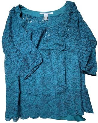 Diane von Furstenberg Green Lace Tops