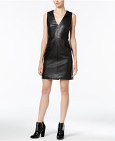 Bar III Faux-Leather Dress, Only at Macy's