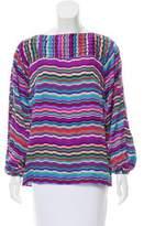 Shoshanna Striped Silk Top