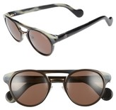Moncler Women's 50Mm Keyhole Sunglasses - Black/ Other / Brown