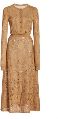 Gabriela Hearst Weider Merino Wool Knit Dress