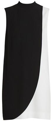Givenchy Sleeveless Two-Tone Shift Dress