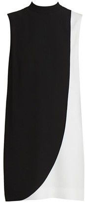 Givenchy Sleeveless Two-Tone Shift Dress