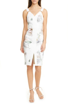 Ted Baker Haarlow Woodland Sleeveless Body-Con Dress