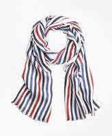 Brooks Brothers Multi-Color Stripe Scarf