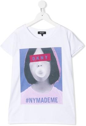 DKNY TEEN photographic print T-shirt