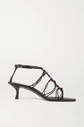 Cult Gaia Ziba Embellished Leather Sandals - Black