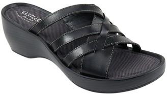 Eastland Leather Slide Sandals - Poppy