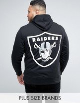 Majestic Plus Raiders Hoodie With Back Print