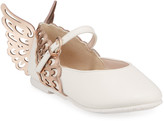 Sophia Webster Evangeline Leather Butterfly-Wing Flats, Toddler/Kids