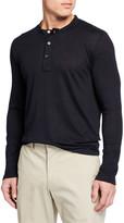 Il Borgo For Neiman Marcus Men's Linen-Blend Henley Shirt