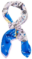 "Kenzo Moon Map Silk Long Scarf, 46"" x 46"""