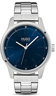 HUGO #Dare Link Bracelet Blue Watch, 42mm
