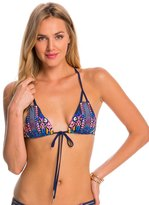 Red Carter Dream Catcher Strappy Triangle Bikini Top 8140141